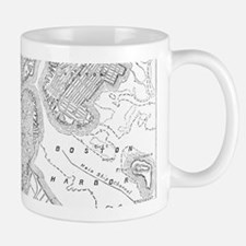 Vintage Map of Boston (1878)  Mug