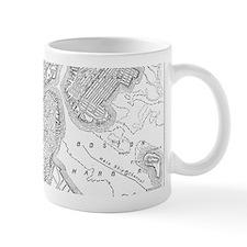 Vintage Map of Boston (1878)  Small Mug