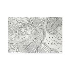 Vintage Map of Boston (1878)  Rectangle Magnet
