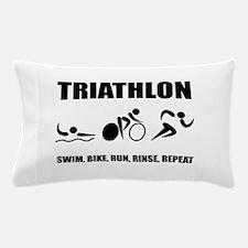 Triathlon Rinse Repeat Pillow Case