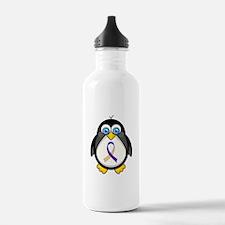 Bladder Cancer Ribbon Water Bottle