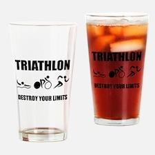 Triathlon Destroy Drinking Glass