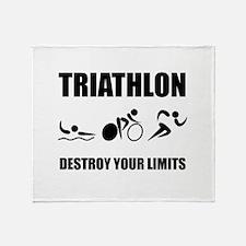 Triathlon Destroy Throw Blanket