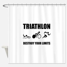 Triathlon Destroy Shower Curtain