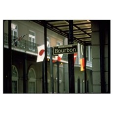 Bourbon Street Sign in New Orleans Canvas Art
