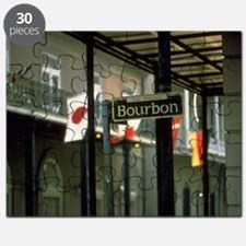 Bourbon Street Sign in New Orleans Puzzle