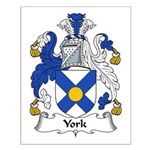 York Family Crest Small Poster