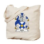 York Family Crest Tote Bag