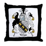 Yonge Family Crest Throw Pillow