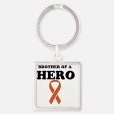 Brother of a Hero Square Keychain