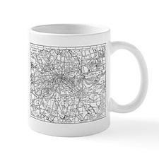 Vintage Map of London England (1911) Small Mug