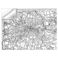 Vintage Map of London England (1911) Wall Decal