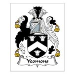 Yeomons Family Crest Small Poster