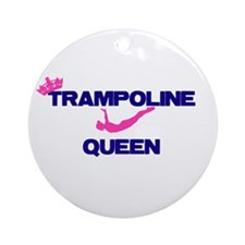 Trampoline Queen Ornament (Round)
