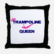 Trampoline Queen Throw Pillow