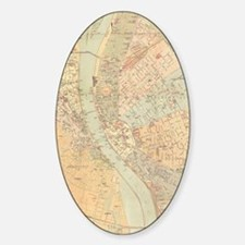 Vintage Map of Budapest Hungary (18 Decal