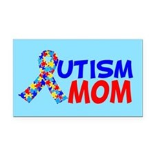 Autism Mom Rectangle Car Magnet