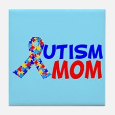 Autism Mom Tile Coaster