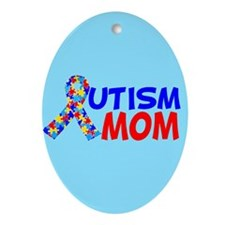 Autism Mom Ornament (Oval)
