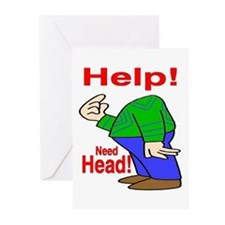 Need Head Greeting Cards (Pk of 10)