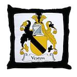 Yeaton Family Crest Throw Pillow