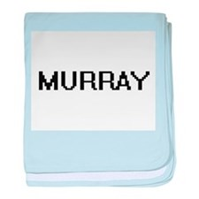Murray digital retro design baby blanket