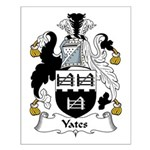 Yates Family Crest Small Poster