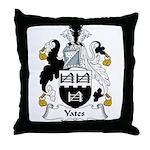 Yates Family Crest Throw Pillow