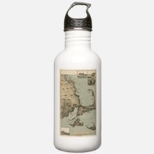 Vintage Map of Cape Co Water Bottle