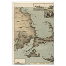 Vintage Map of Cape Cod (1885) Poster