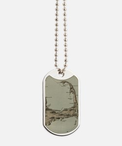 Vintage Map of Cape Cod (1885) Dog Tags
