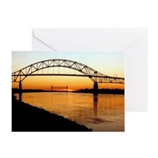 Cape Cod Bourne Bridge Greeting Card
