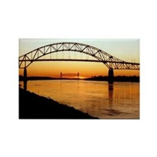 Cape Cod Bourne Bridge Rectangle Magnet