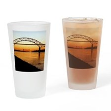Cape Cod Bourne Bridge Drinking Glass
