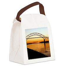 Cape Cod Bourne Bridge Canvas Lunch Bag