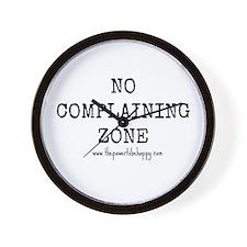 No Complaining Zone Wall Clock