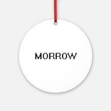 Morrow digital retro design Ornament (Round)