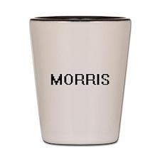 Morris digital retro design Shot Glass