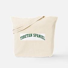 Tibetan Spaniel (green) Tote Bag