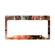 Carving a Turkey License Plate Holder