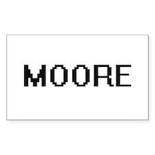 Moore digital retro design Decal