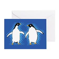 Dancing Penguins Greeting Card