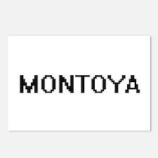 Montoya digital retro des Postcards (Package of 8)
