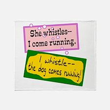 Whistling Throw Blanket
