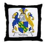 Yardley Family Crest Throw Pillow