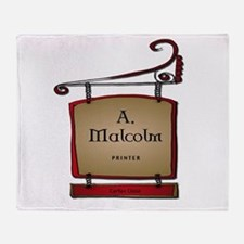 Jamie A. Malcolm Printer Throw Blanket