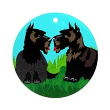 Scottish Terriers Ornament (Round)