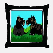 Scottish Terriers Throw Pillow