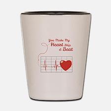 Skip a Beat Shot Glass