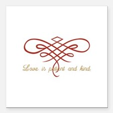 "Wedding Love Quilt Square Car Magnet 3"" x 3"""